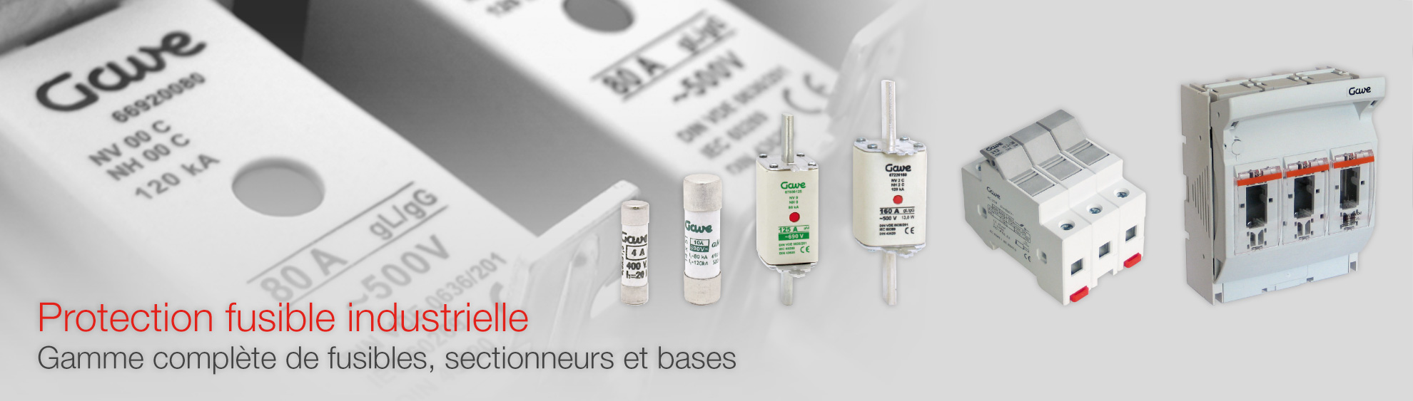 Protection fusible industrielle