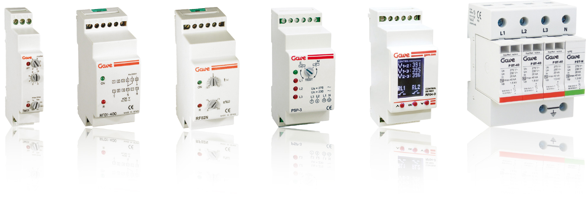 range overview of control relays and protection